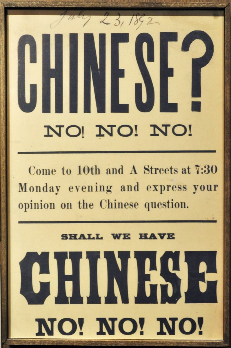 chinese exclusion act The chinese exclusion act (pdf, 428kb) of 1882 was signed into law on may 6, 1882 officially titled an act to execute certain treaty stipulations relating to chinese, the chinese exclusion act prohibited the immigration of chinese laborers for ten years it was extended in 1892 for another ten.