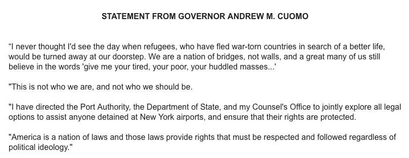 Cuomo orders Port Authority to assist detainees at New York airports as crowd at JFK continues to grow https://t.co/aGUanxH45u