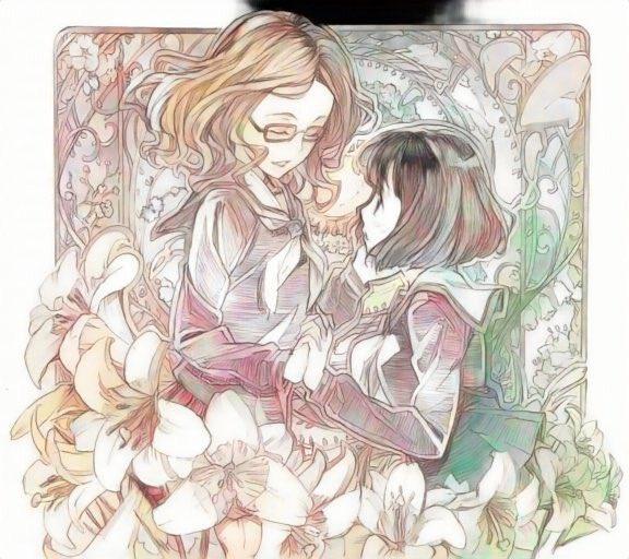 例の自動着色であやねる絵もやってみた。右の絵はレディオクロス時代に描いたものだった #佐倉綾音生誕祭…