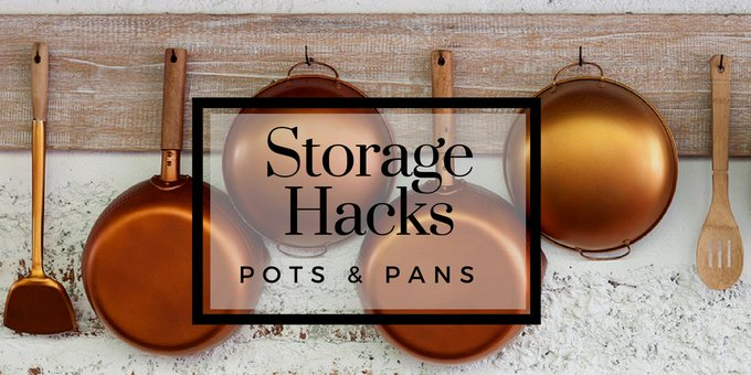10 Space Saving Ways to Store Pots and Pans