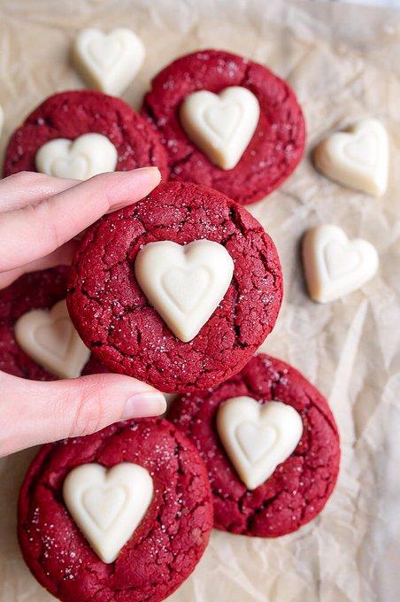 Red Velvet Sugar Cookies