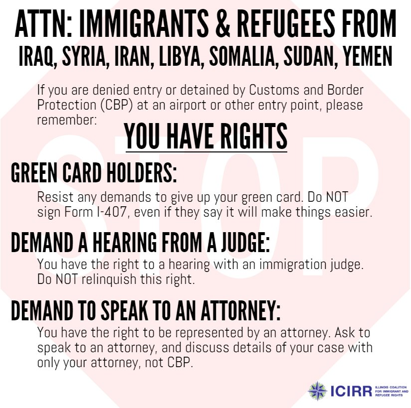 KNOW YOUR RIGHTS! #HereToStay #100DaysOfResistance https://t.co/S6jhoAfylv