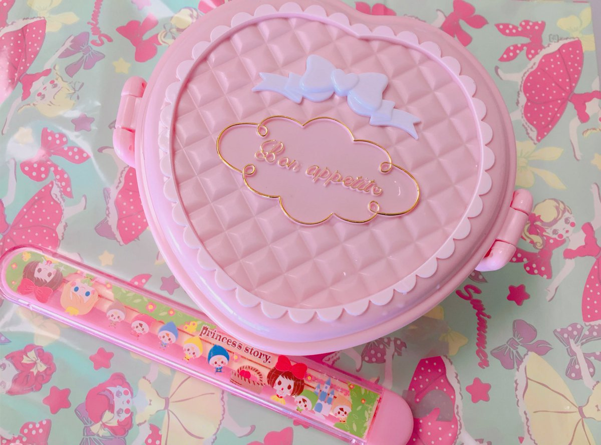 おはようございます🌸  私のお弁当箱🍱💓 かわいい…超かわいい…(笑)