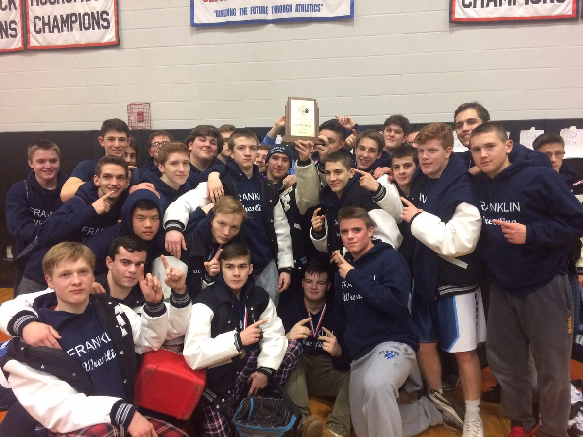 The team came in first winning the tournament and becoming Hockomock Champions!!! #FHSWrestle #cvvtrszn