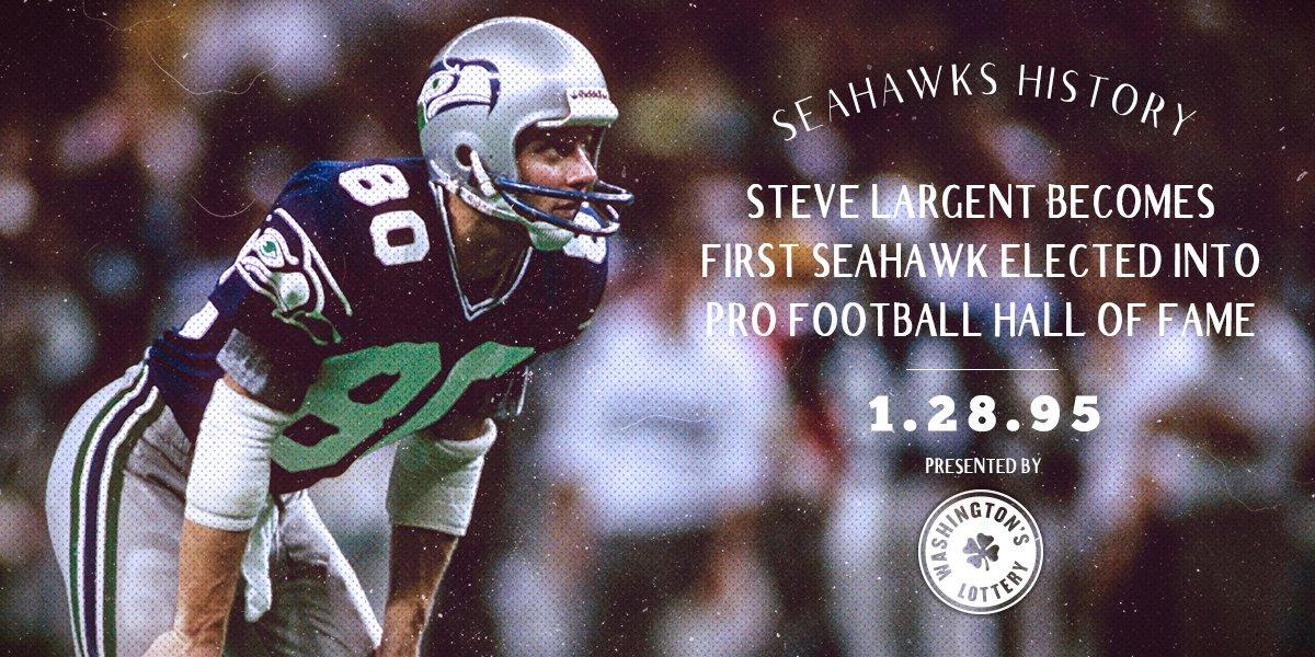 Seattle Seahawks On Twitter Otd In 1995 Steve Largent Is The 1st