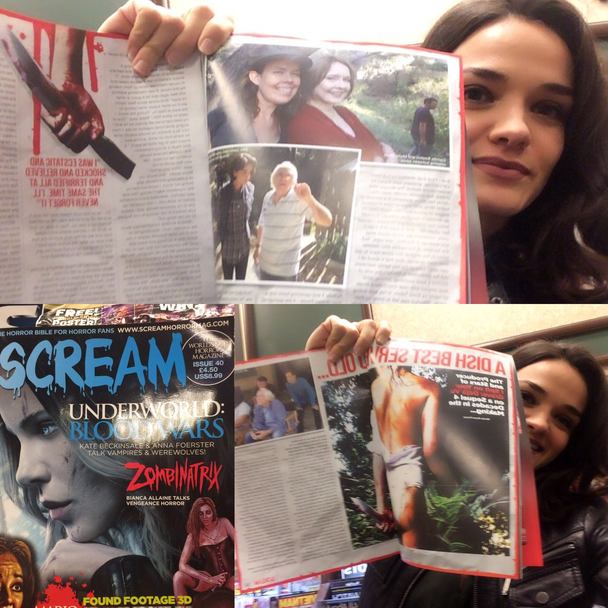 """Got my copy of @ScreamHorrorMag at Barnes&Noble! They did a 5-page write up about """"I Spit on Your Grave: Deja Vu""""!"""