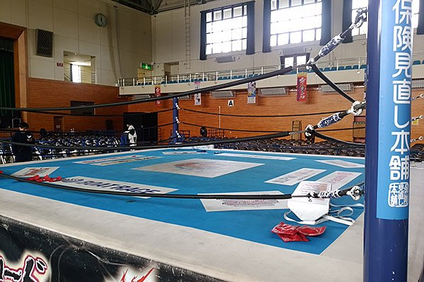 本日は16:00より雫石総合運動公園体育館大会を開催! リングも完成し、準備は着々と進行中です! 当…