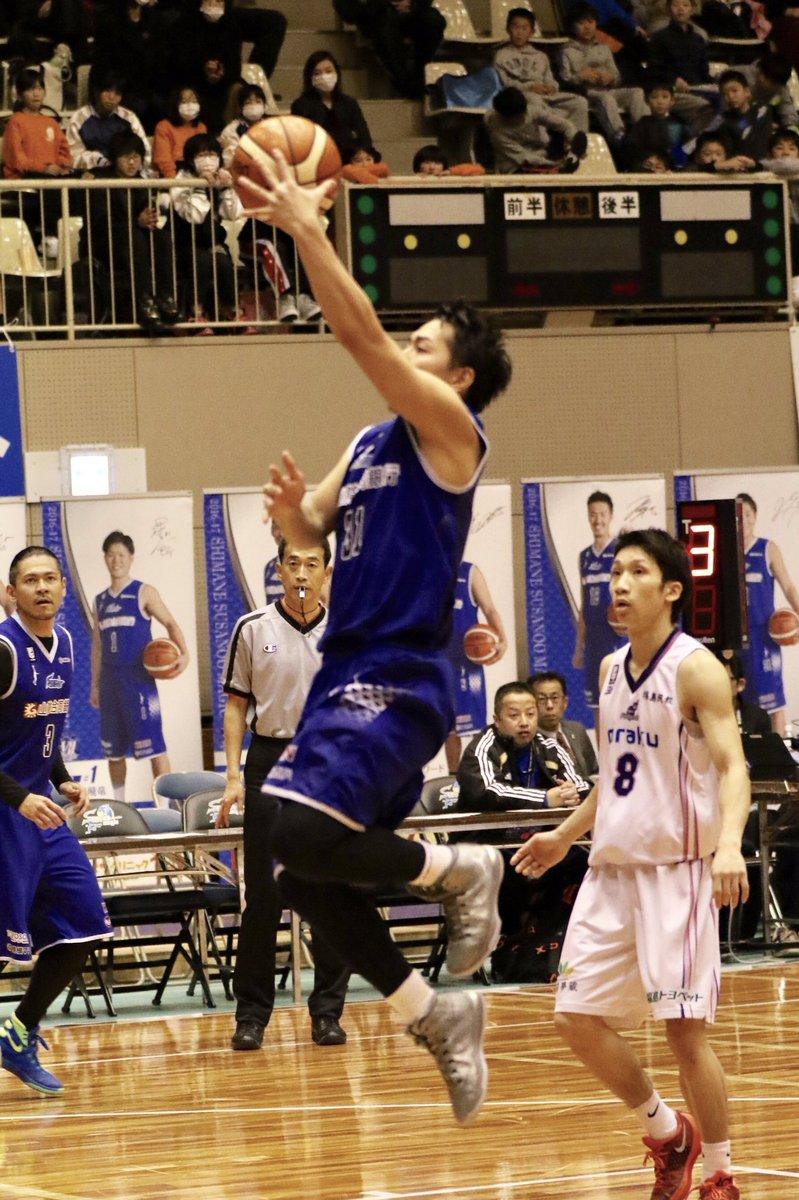 第2Q終わって 島根41-38福島 Shimane 41-38 Fukushima  前半終わって3…