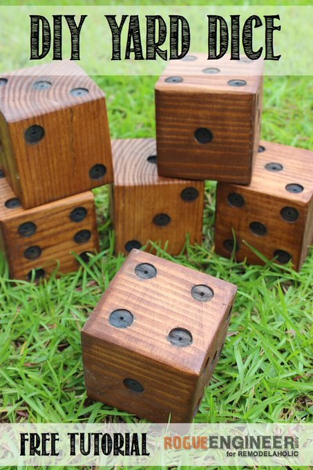 DIY Yard Dice Plans