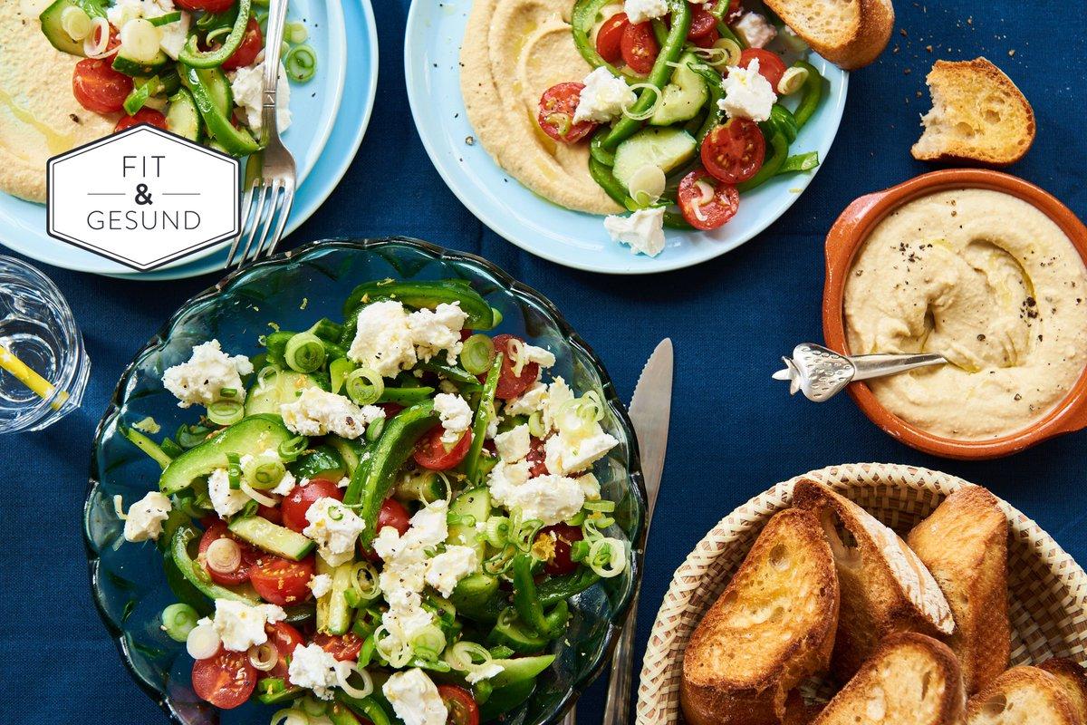 Dieser Salat ist perfekt, wenn mal wieder unerwartet Besuch vor der Tür steht: http://ow.ly/Qw3Y308gFgA  #weekend #weekendcooking #greeksalad