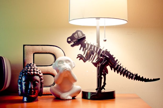 DIY Dinosaur Lamp for Less Than $30!