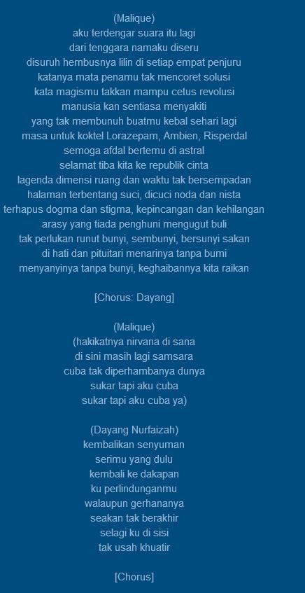 Ijat على تويتر Sumpah Terbaik Lirik Lagu Malique Pejamkan Mata Bahasa Dan Makna Yang Mendalam Malique On His Own Class