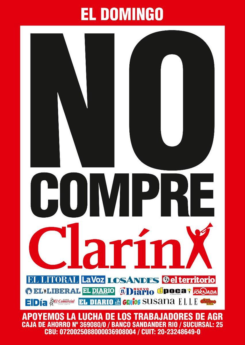 Día histórico para los trabajadores gráficos: frenaron la salida de Clarín. #NoComprenClarin https://t.co/EedUfpXDoR