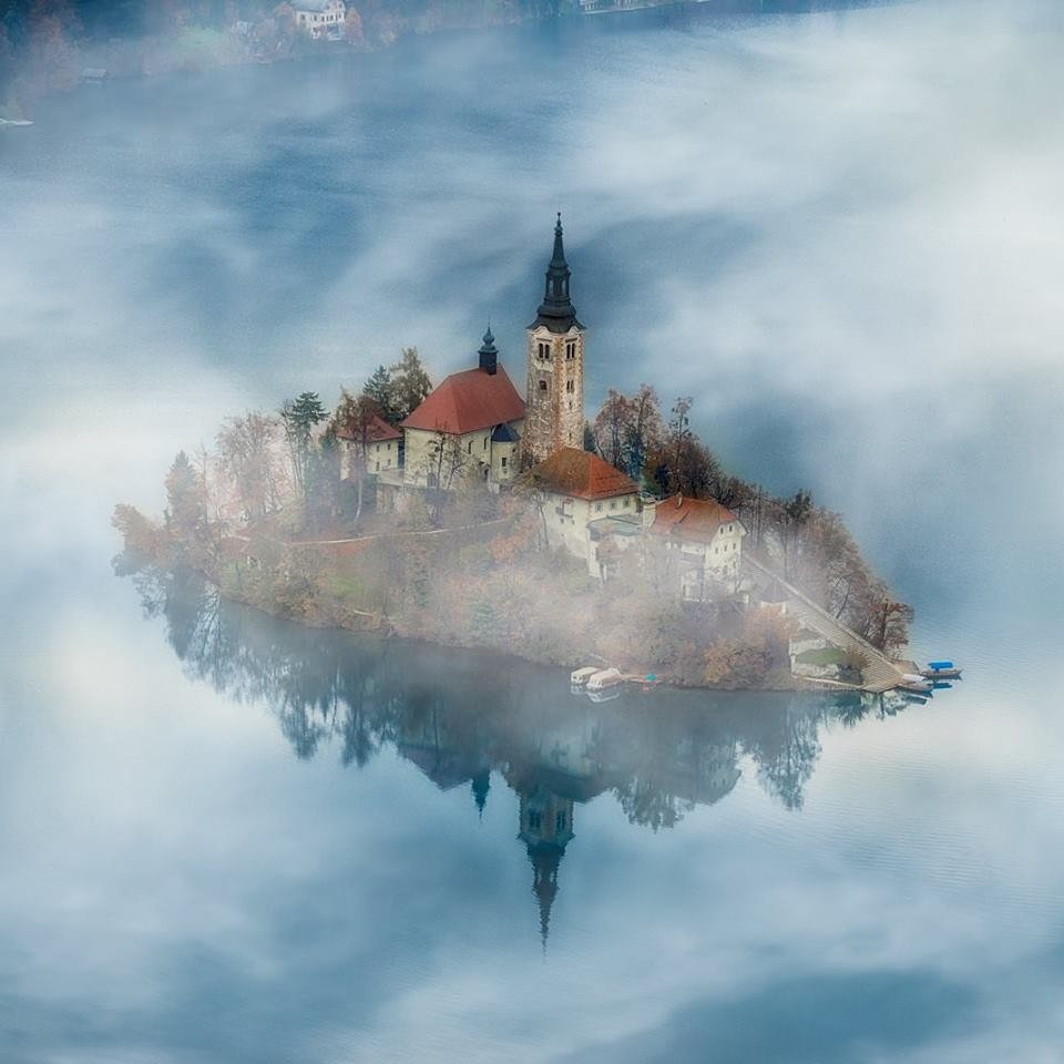 Assumption of Mary Church on Bled Island in Slovenia.