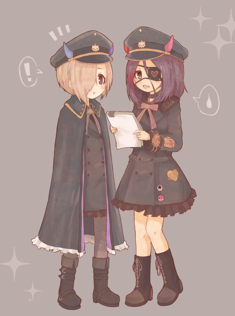 軍服ワンピースな小梅ちゃんと美玲ちゃんです