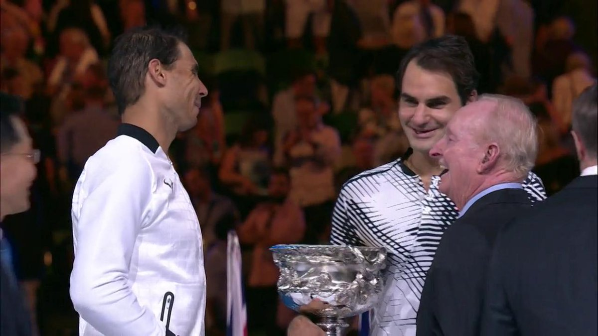 No. 18 🏆 for #Federer  @rogerfederer the #AusOpen 2017 champion.