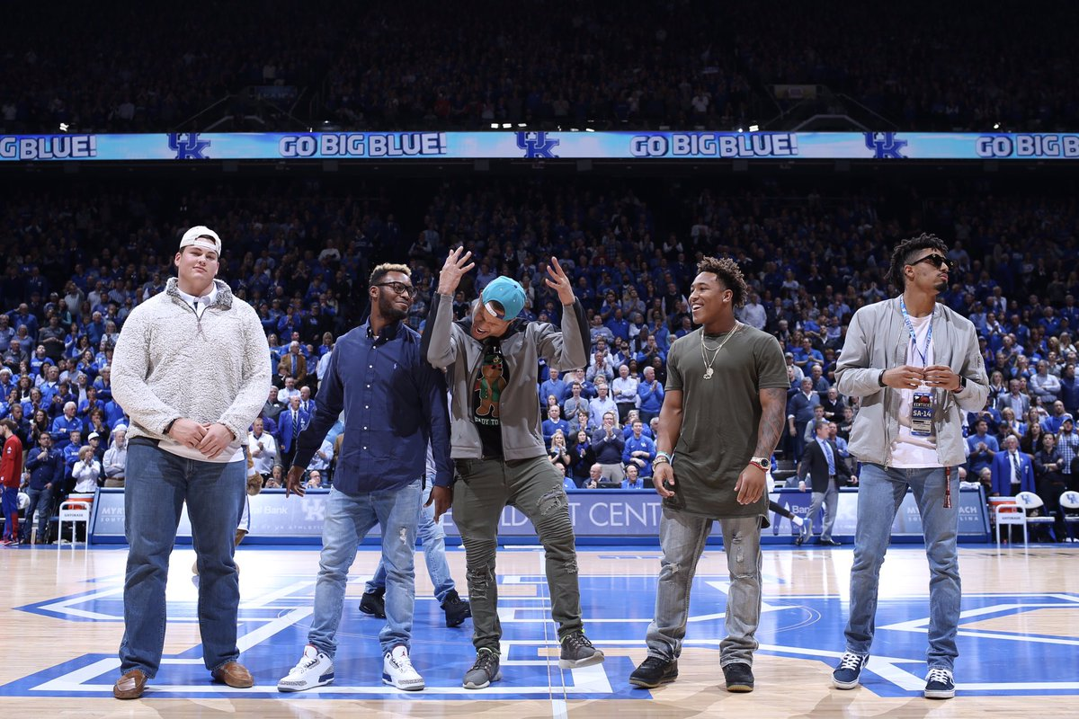 Members of the football team were offered at UK's last Junior Day, via @UKFootball.