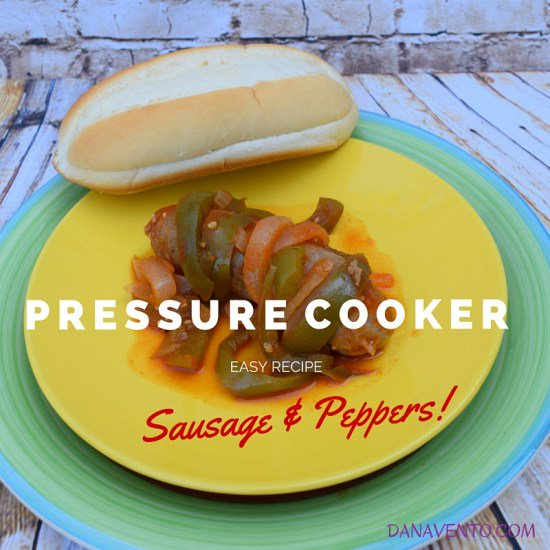 Pressure Cooker Sausage and Peppers
