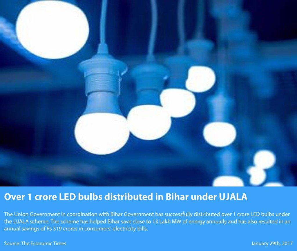 "Led Bulb Ujala Yojana: Ministry Of MSME On Twitter: ""Over 1 Crore LED Bulbs"