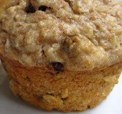 Oatmeal-Raisin Muffins