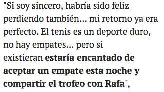 Federer. Un señor: https://t.co/wbjCS5PYRf