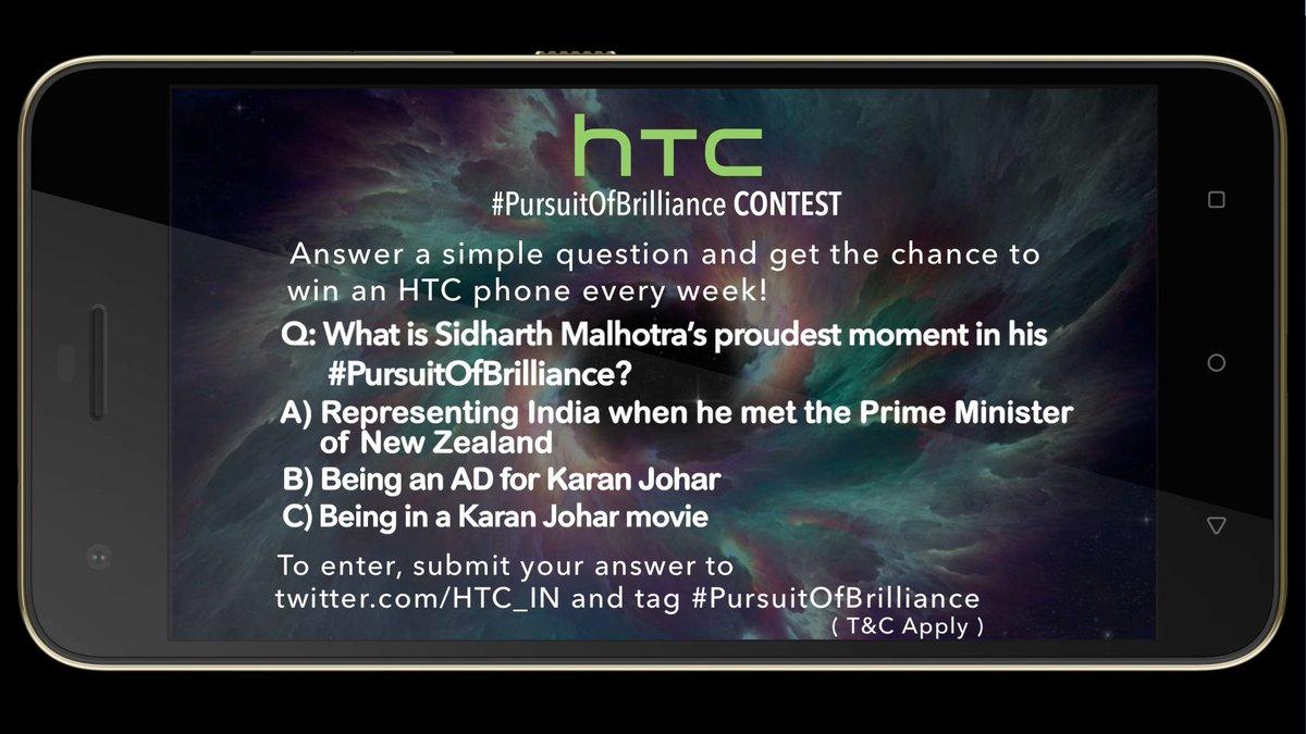 HTC #PursuitOfBrilliance contest is live now @MissMalini @Vh1India #Vh1InsideAccess #Desire10Pro https://t.co/35DhU4TkOg
