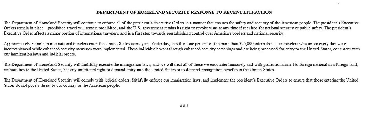 Department Of Homeland Security Response To Recent Litigation → https://t.co/1gb0jl65MQ https://t.co/rEkzmylFCL