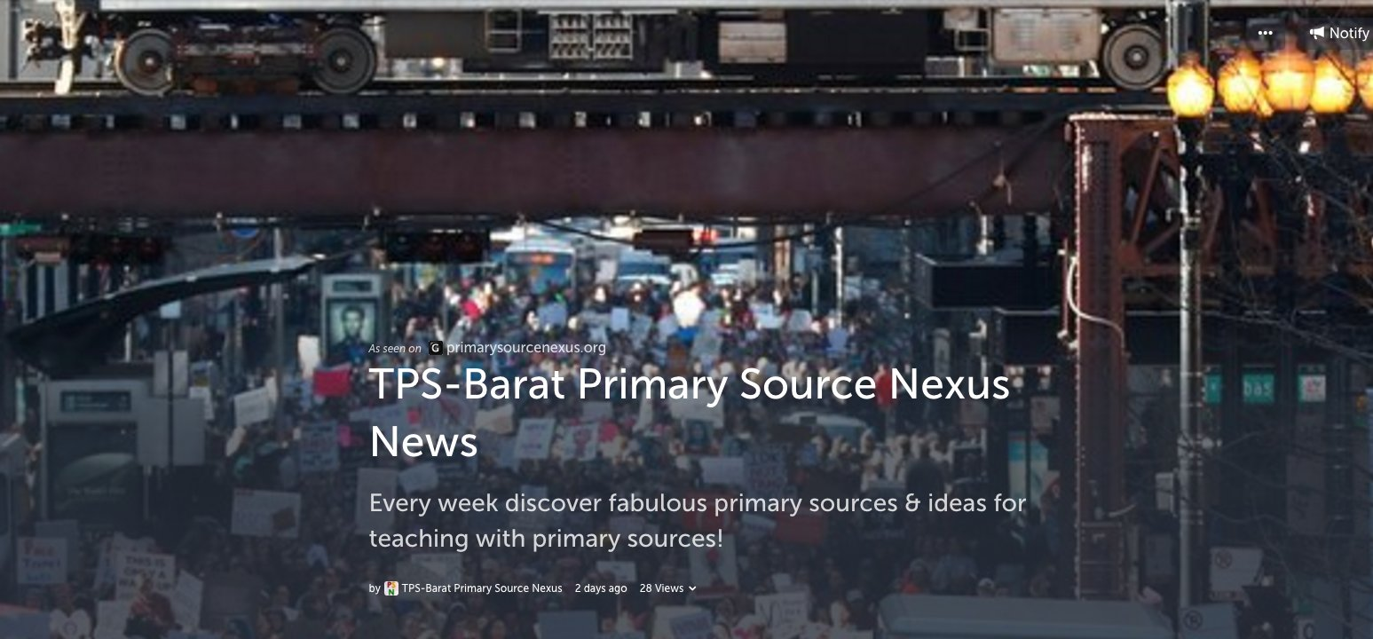 Primary Source Nexus News 1/20-26/17 Discover fabulous primary sources & teaching ideas! https://t.co/PAdLu4WkqH #tlchat #elemchat #edchat https://t.co/5hQziMe92O