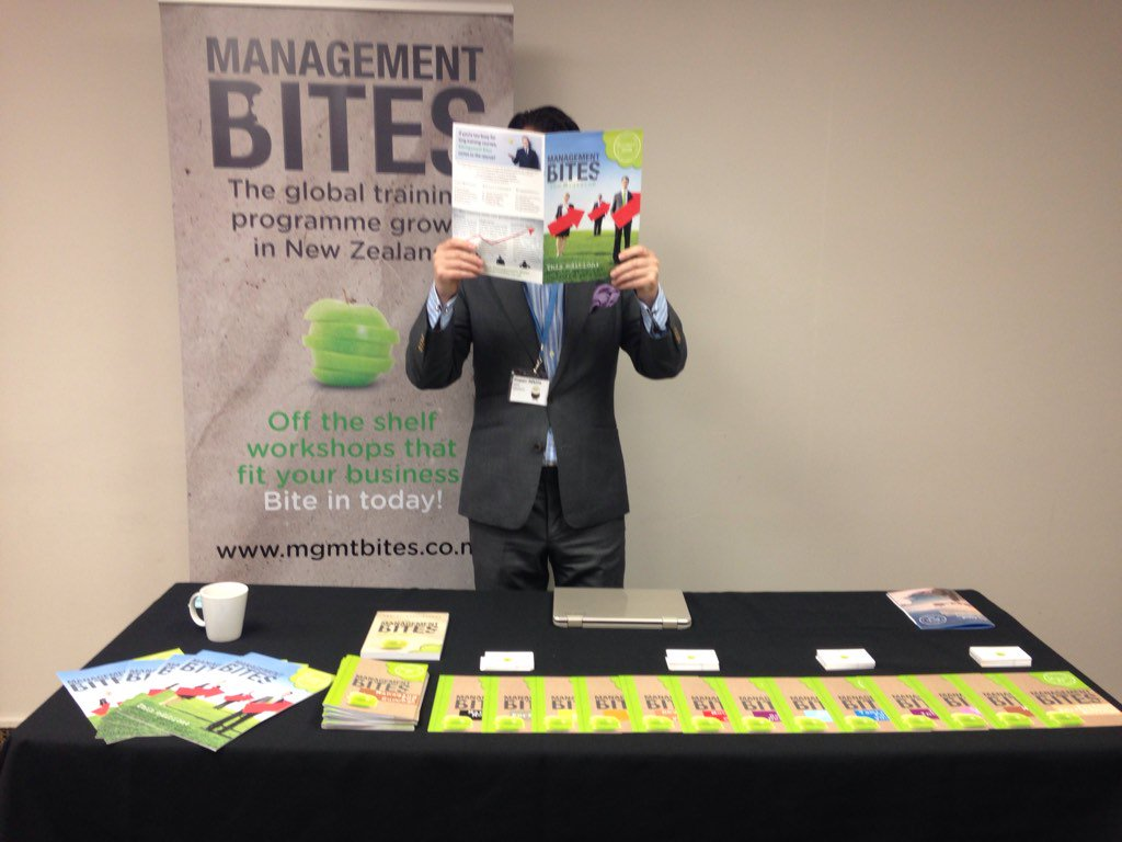 Fraser loves having his photo taken! He's on the Management Bites stand today! #hraconf17 https://t.co/lenAfLoUb4