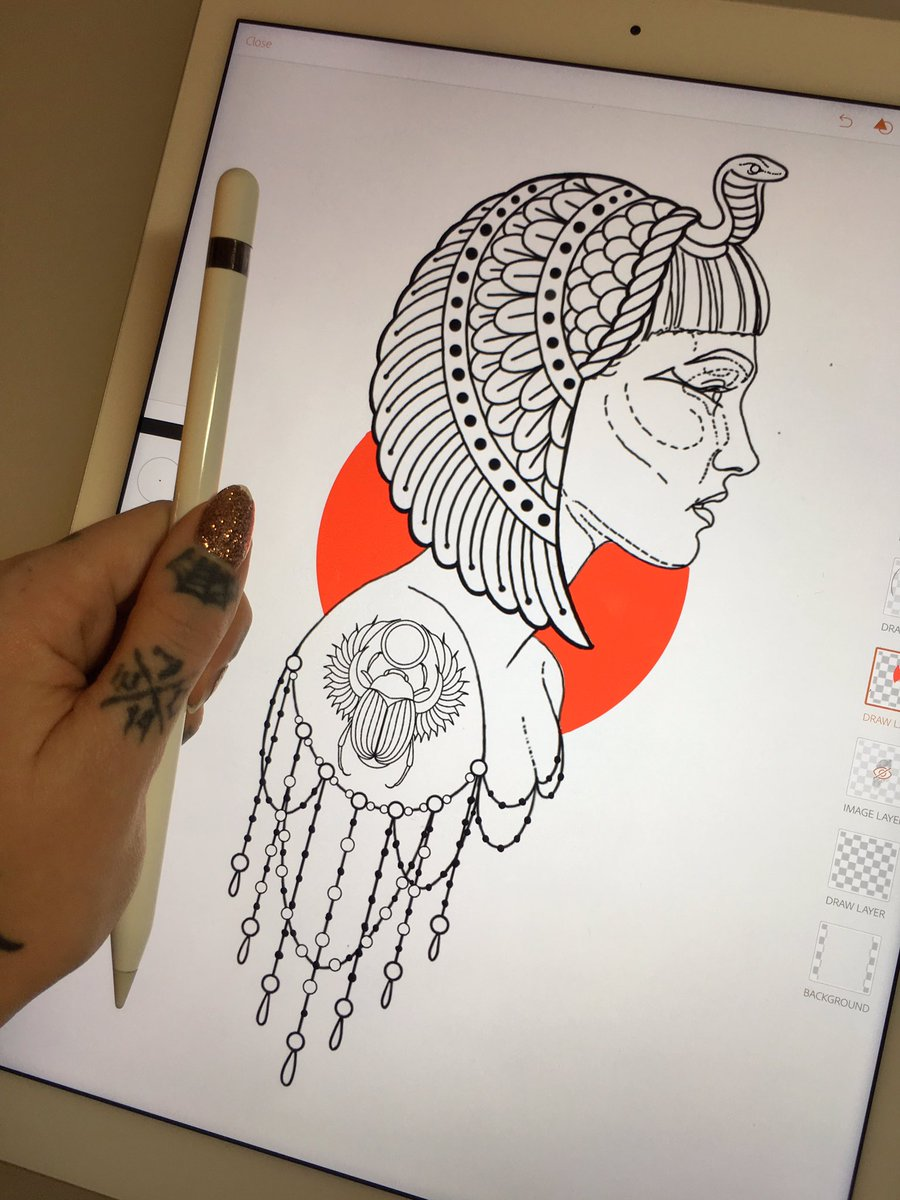 Megan Massacre On Twitter My Stencil Drawing For A Cleopatra Tattoo