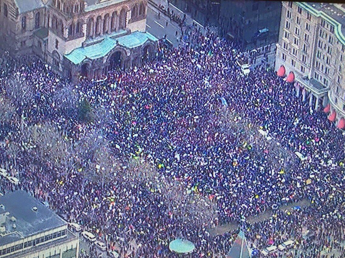 That beautiful shot of Boston's Copley Square today #NoBanNoWall https://t.co/0KHBYkITkq
