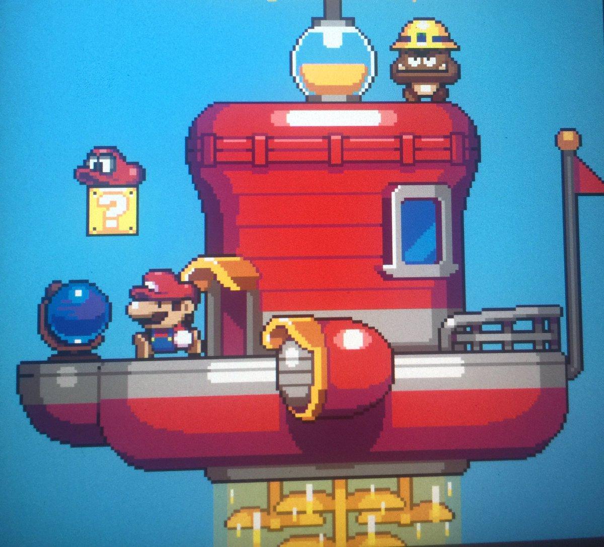 Mat Annal On Twitter Mario Odyssey In 2d Pixelart New