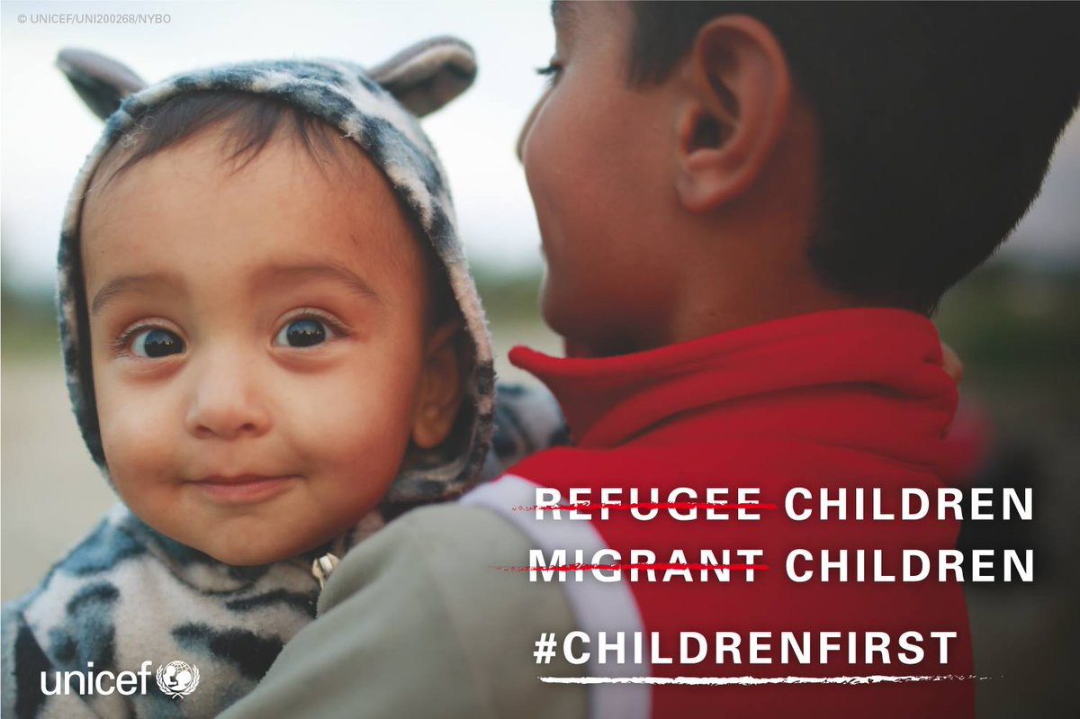 Not refugee children. Not migrant children. Just children. #ChildrenUprooted