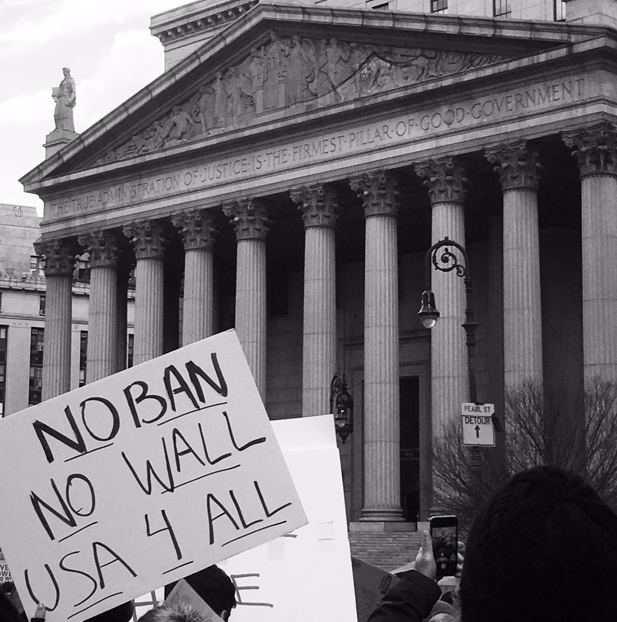 """The true administration of justice is the firmest pillar of good government.""  #nobannowall #refugeeswelcome #civilrights https://t.co/5GEFPfiylT"