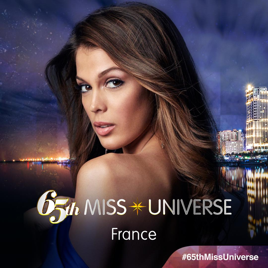 65th miss universe on twitter miss france iris. Black Bedroom Furniture Sets. Home Design Ideas