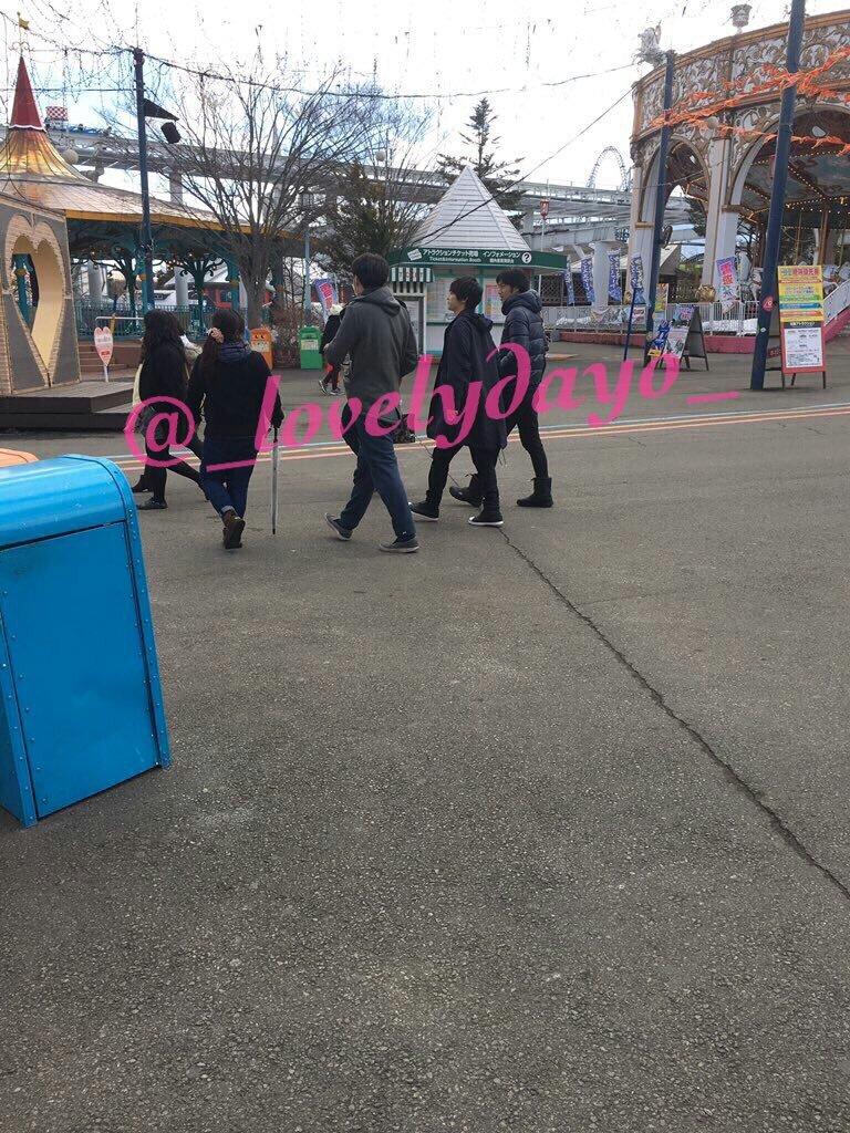 本日1/30(月)キスマイメンバーは富士急ハイランドにて、にこるんとキスブサデートロケ