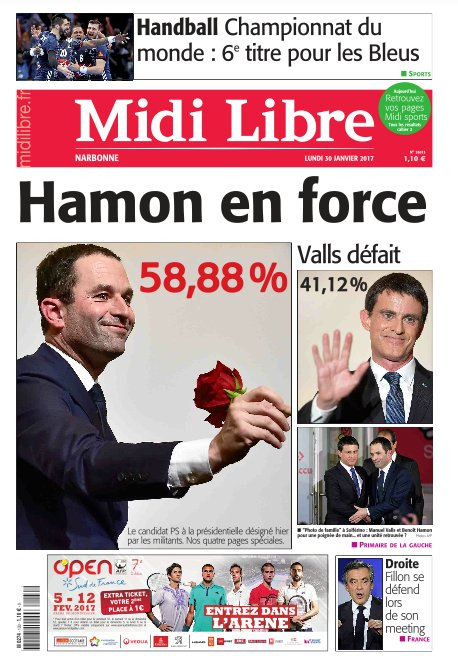 #Hamon en force #MidiLibre <br>http://pic.twitter.com/1K5vbvbr1q