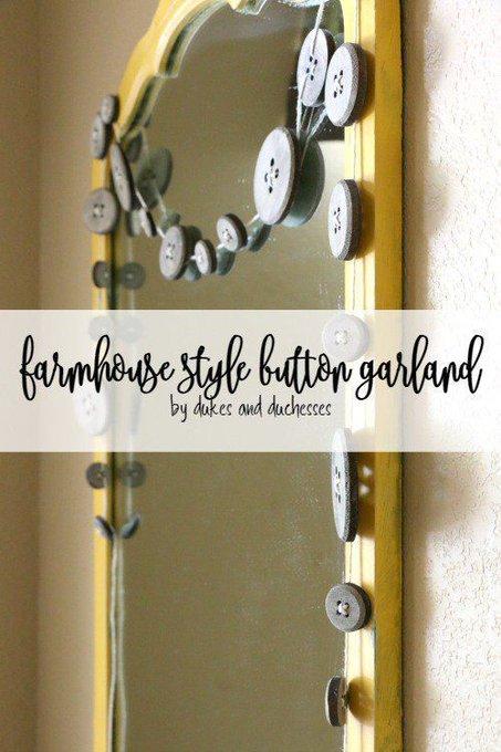 Farmhouse Style Button Garland