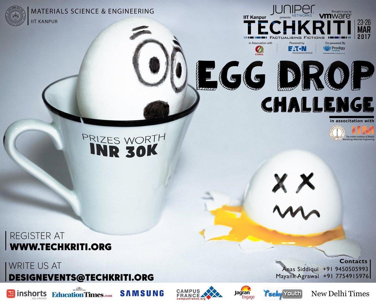 Image result for techkriti 2018 egg drop challenge