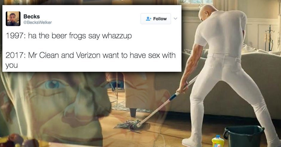 15 hilarious twitter reactions to the mr clean sex hound commercial httpbitly2kenujl pictwittercomqce5pmmheo