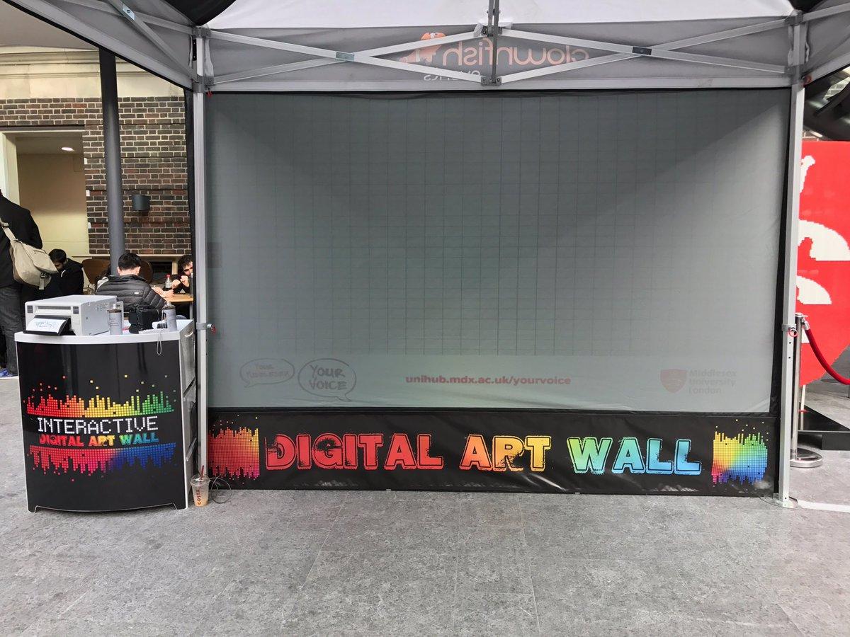 Interactive graffiti wall uk - Clownfish Events On Twitter Our Digital Graffiti Wall Is At Middlesexuni This Week With Matt B Digitalart Unievents Https T Co Dsmlx0bdpj