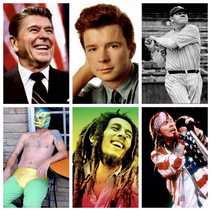 HAPPY BIRTHDAY Ronald Reagan, Rick Astley, Babe Ruth, Axl Rose, Bob Marley and...El Vortex!