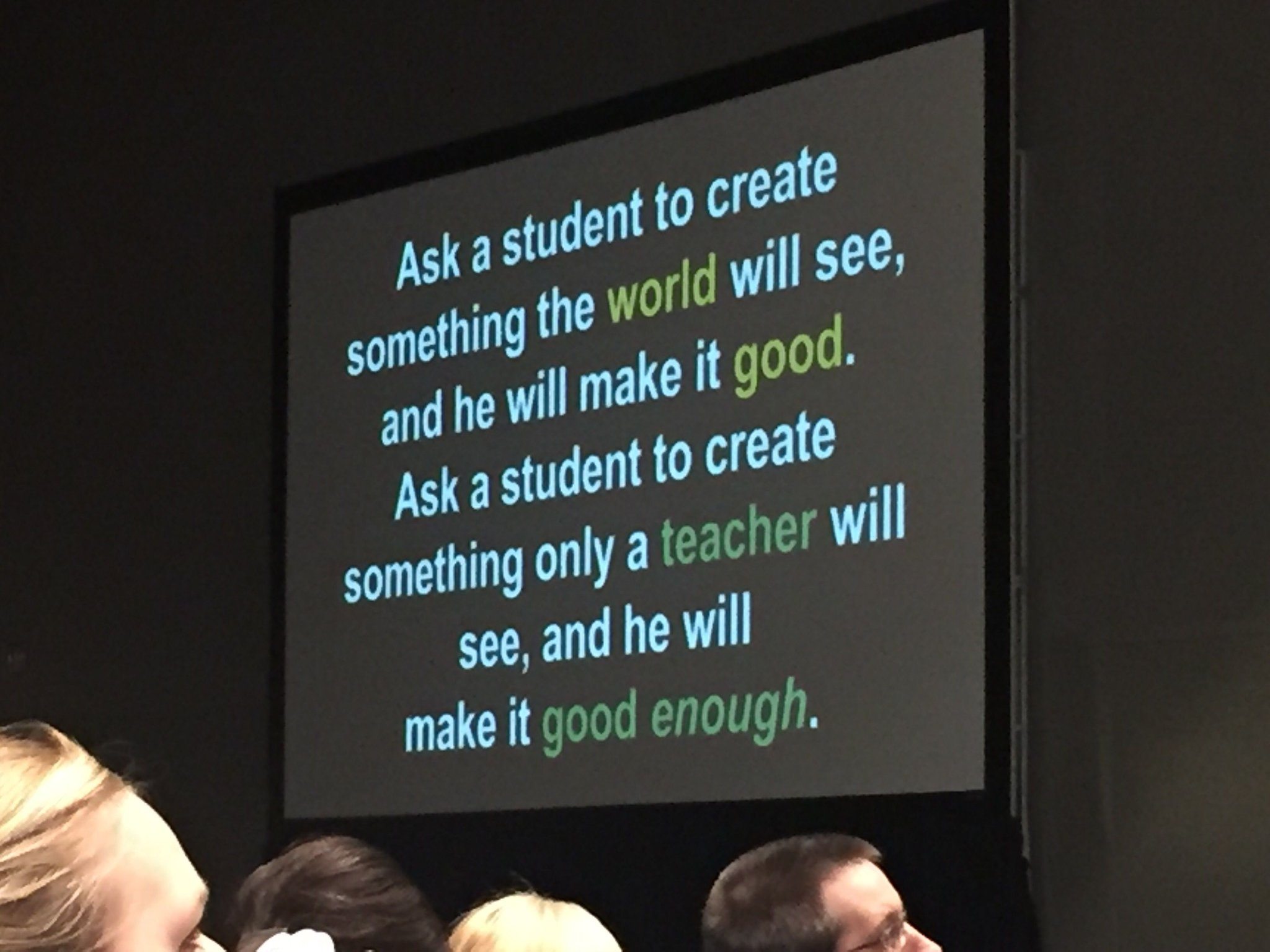 WHY it's important to give students a global audience for their work. Use sites and blogs as online portfolios of student work! #TCEA17 https://t.co/OvCka028Sf