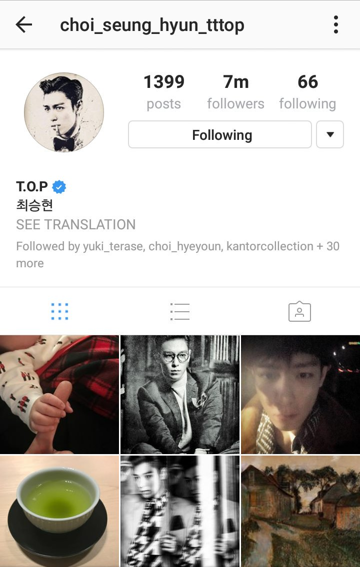 His instagram also reached over 7m followers (via: TOPs_Fools)