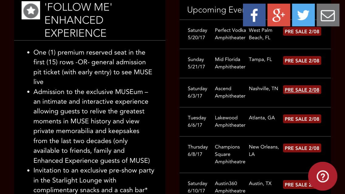 Http Muse Mu News  North American Tour  Htm