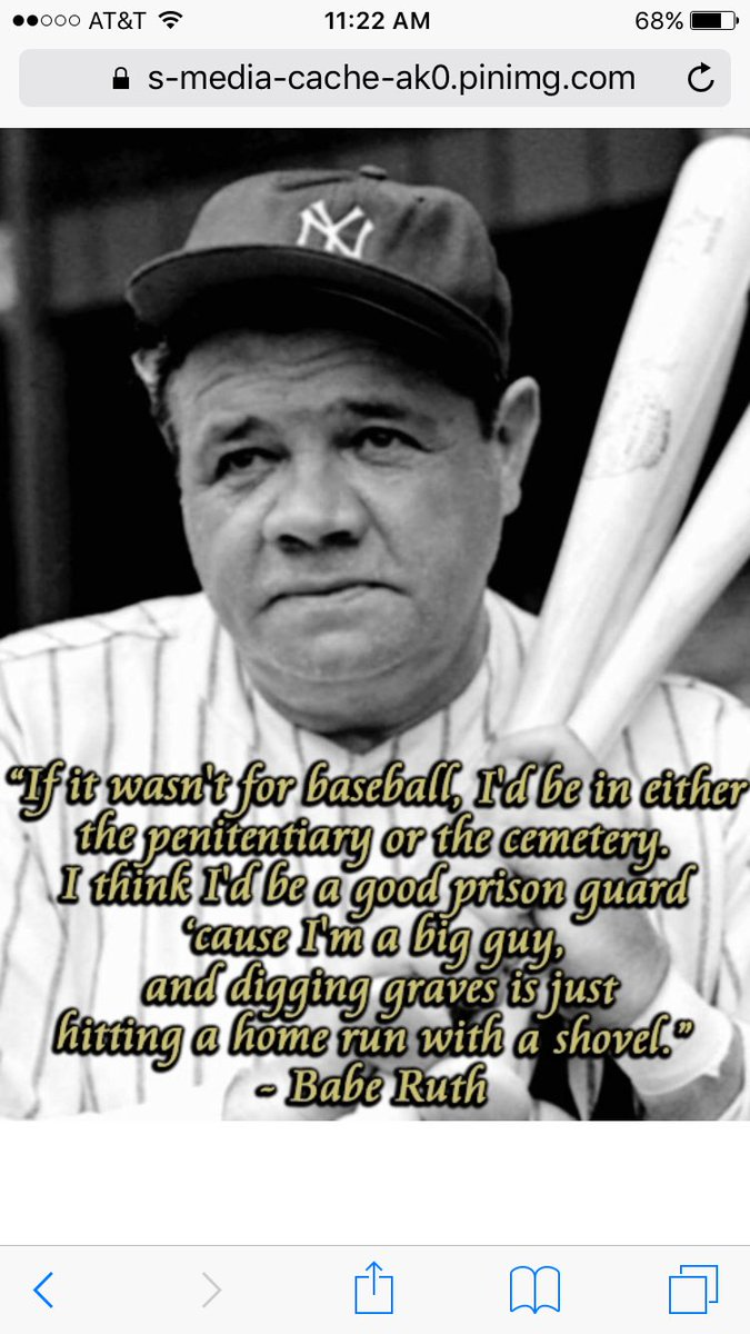Baseball Movie Quotes Auf Twitter Here S Some Of My Favorite Babe Ruth Quotes Happybirthday