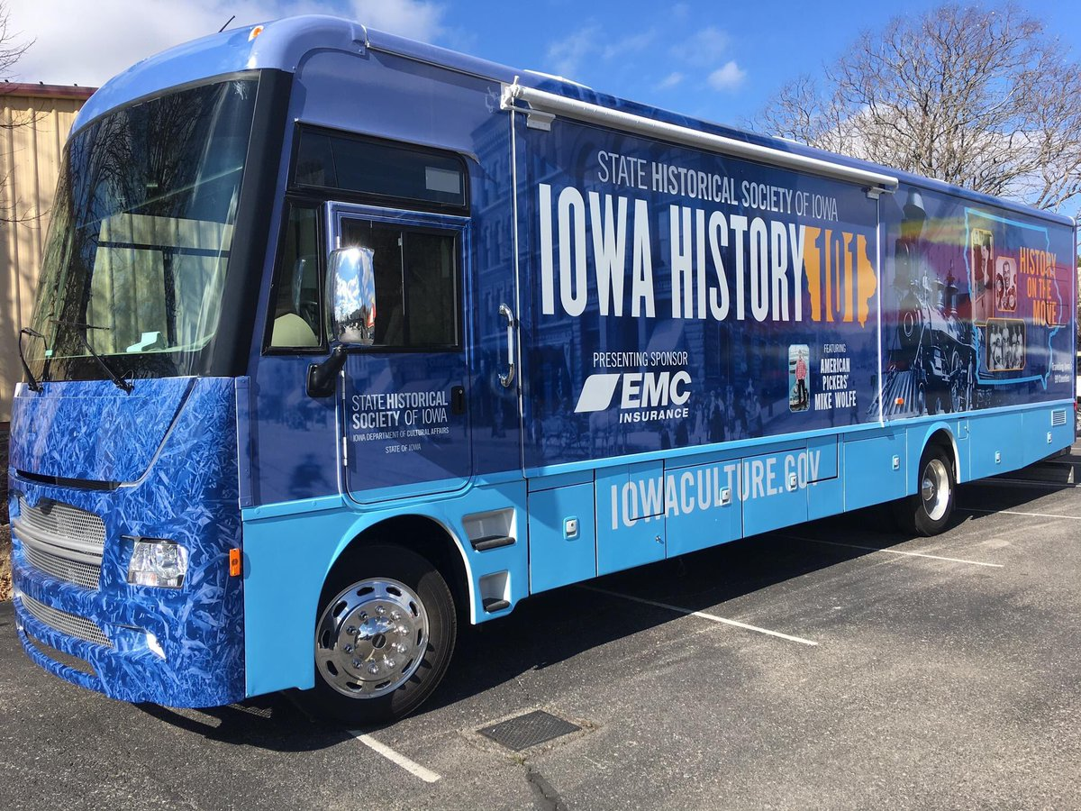 Iowa History 101 traveling museum