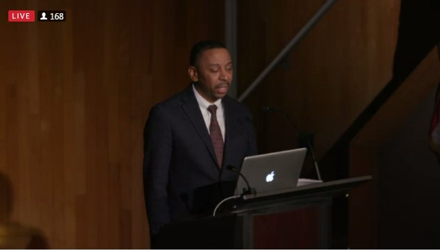 .@drexelwestphal Prof. Alphonso McClendon said #jazz is about disruption, dominion and defiance. @MuseumatFIT #BlackFashionDesigners #BHM  <br>http://pic.twitter.com/QoCjPMKHSq
