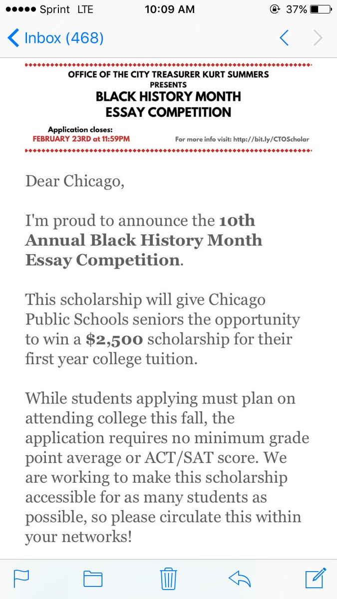 cps black history month essay competition