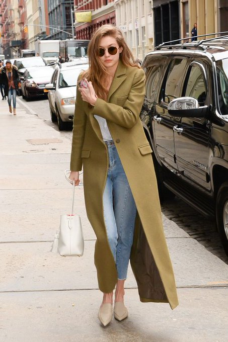 Gigi Hadid Has a Military Moment in Army Green